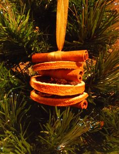 Orange Slice Ornament  Cinnamon Christmas by LeVieuxPotiron