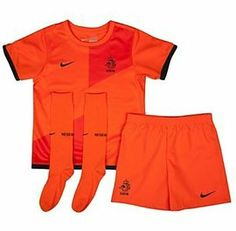 Netherlands Kids Home Football Kit 2012 - 2013, is a vibrant fresh orange color, with shorts and socks to match as worn by the Netherlands team in the 2012 European Championships,you ll certainly be a winner wearing this kit available to fit age 7-8 at Soccer Box, see more Netherlands merchandise http://www.soccerbox.com/netherlands-football-shirts-jerseys
