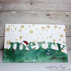 blog.karten-kunst.de - Merry Christmas. Poppy Stamps Magnificent Merry