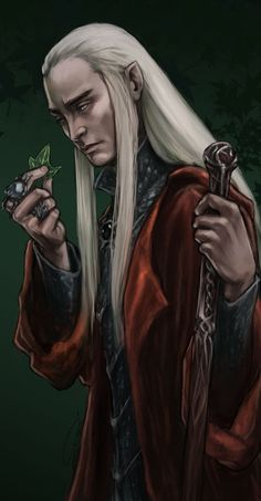 Thranduil - The Peace of Lorien by rosythorns.deviantart.com on @deviantART