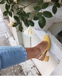 Yellow heels that I love | Inspiring Ladies