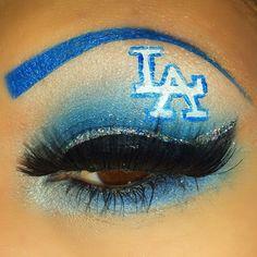 Dodger Dodgers Girl, Dodgers Fan, Dodgers Baseball, Eyes Game, Oakland Raiders Logo, Chola Style, Blue Plants, Angels Baseball, Dodger Blue