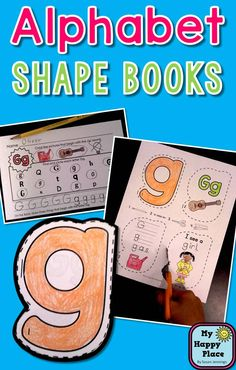Alphabet Shape Books: Phonics and Fine Motor Skills! cutting, coloring, printing, stapling, great for kindergarten! $