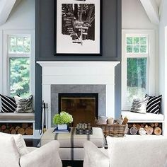 7 Worthy Cool Tricks: Living Room Remodel With Fireplace Coffee Tables living room remodel with fireplace basements.Living Room Remodel Ideas Money living room remodel with fireplace decor.Living Room Remodel With Fireplace Bookcases. House Design, New Homes, House Styles, Fireplace Makeover, Home Living Room, Modern Cottage, Home, Interior, Family Room