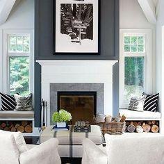 1000 Ideas About Fireplace Between Windows On Pinterest