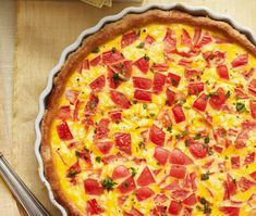 and Goat Cheese Quiche This make-ahead Tomato and Goat Cheese Quiche will make for a no-fuss brunch.This make-ahead Tomato and Goat Cheese Quiche will make for a no-fuss brunch. Luncheon Recipes, Brunch Recipes, Breakfast Recipes, Breakfast Ideas, Brunch Food, Brunch Menu, Supper Recipes, Easy Egg Recipes, Cooking Recipes