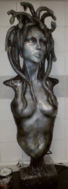 """Medusa "" 960mm tall epoxy putty"