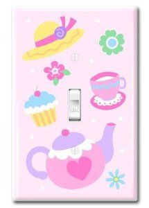 "Hot Seller Let's Have a Tea Party Light Switchplate Cover (Pink) by Kitty4U. $29.99. fits a standard size switch plate cover. measures 3 1/8"" x 4 7/8"". 2 white screws included. The Tea Party Light Switchplate Cover (Pink) is certainly a hot seller item in Amazon. It's has a simple but elegant design which features a tea party event. Perfect for Kids.   Instructions for use:   *Before installing, turn off power at the fuse box or circuit breaker.  *Remove existing switch pla..."