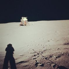 Farewell, Neil Armstrong - Apollo 11 Mission image - View of the Lunar Module at Tranquility Base. Image taken by Astronaut Neil A. Armstrong during the Apollo 11 Mission. Moon Missions, Apollo Missions, Solar System Exploration, Space Exploration, Carl Sagan, Sistema Solar, Programa Apollo, Mission Images, Cosmos