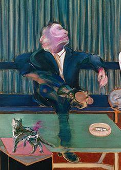 Francis Bacon, Portrait of George Dyer and Lucian Freud, 1967 Francis Bacon, Robert Motherwell, Richard Diebenkorn, Architecture Tattoo, Sad Art, Madrid, Identity Art, Funny Tattoos, Human Figures
