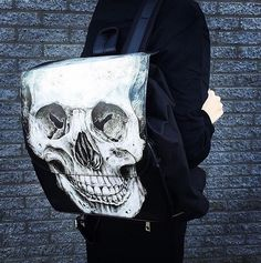 Human Skull Backpack by Restyle  ATTITUDECLOTHING.CO.UK | We ship worldwide…