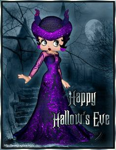 Have A Happy Hallow's Eve! From #bettyboop ~ #illustration ✿⊱╮ Biker Girl, Betty Boop Halloween, Black Betty Boop, Animated Cartoon Characters, Movie Posters, Anime, Movies, Halloween Pictures, Scorpio