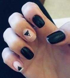 Geometric nails #black #art