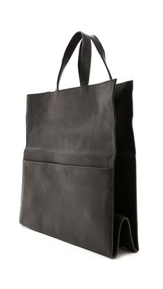 MMM leather fold over tote