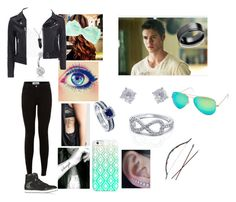 """""""Hunting vampires with Jer #2"""" by cmsvball19 on Polyvore featuring Topshop, Bling Jewelry, BERRICLE, Jimmy Choo, IRO, Jewel Exclusive, Casetify and Ray-Ban"""