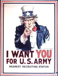 """Originally published as the cover for the July 6, 1916, issue of Leslie's Weekly with the title """"What Are You Doing for Preparedness?"""" this portrait of """"Uncle Sam"""" went on to become–according to its creator, James Montgomery Flagg–""""the most famous poster in the world."""" Over four million copies were printed between 1917 and 1918, as the United States entered World War I and began sending troops and material into war zones."""