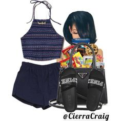A fashion look from November 2016 featuring Hollister Co. tops, Retrò shorts and Victoria's Secret sandals. Browse and shop related looks.