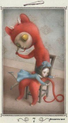 Seven of Wands - Nicoletta Ceccoli Tarot by Nicoletta Ceccoli