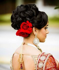 Best hairstyles for indian wedding. Gorgeous hairstyles for indian wedding. Long hairstyles for indian wedding. Top indian hairstyles for bride. Lehenga Hairstyles, Indian Wedding Hairstyles, Bride Hairstyles, Cool Hairstyles, Fashion Hairstyles, Natural Hairstyles, Hairstyle Ideas, Spanish Hairstyles, Hairstyle Wedding