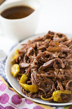 This Mississippi Roast involves a slow cooker, five simple ingredients, zero effort, 100% dinner  leftover satisfaction!
