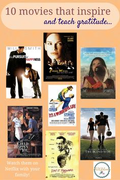 Here are 10 great suggestions for your Family Movie Night. These movies inspire and teach gratitude.