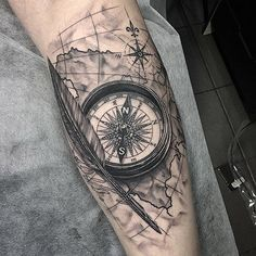Thanks Asmir                                                                                                                                                                                 More #compass_tattoo_map