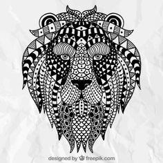 León étnico abstracto