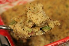A classic cornbread dressing made with day old cornbread, traditional sauteed vegetables and seasoned with sage.