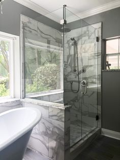 Heavy Glass Shower Door with clips and channel.