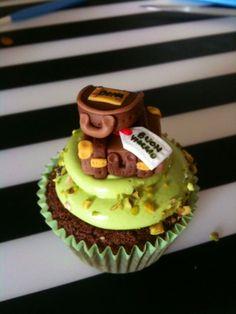 Cupcake pistacchio valigia suitcase cupcake