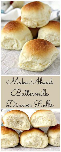 Make Ahead Buttermilk Dinner Rolls