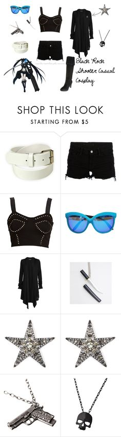 """Black Rock Shooter Casual Cosplay"" by cupcake-curiosities ❤ liked on Polyvore featuring Poste, J Brand, Italia Independent, Rockport, Blake, MANGO, Club Manhattan, casual cosplay, anime and nerd"