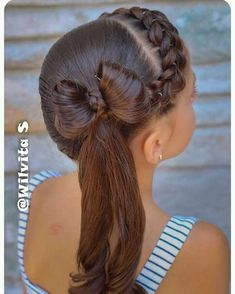 These hair styles will be fairly simple and are great for starters, fast and simple young one hairstyles. Lil Girl Hairstyles, Back To School Hairstyles, Braided Hairstyles, Wedding Hairstyles, Cool Hairstyles, Girl Hair Dos, Ponytail Styles, Toddler Hair, Crazy Hair