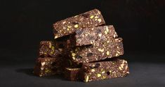 Chocolate energy bars with nuts