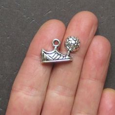 4 Soccer Charms Antique Tibetan Silver Cleat by BohemianFindings, $2.95