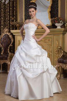 Ball Gown Wedding Dresses Sweetheart Floor Length Satin Ivory 010010200505