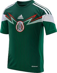 adidas Youth Mexico 2014 World Cup Home Replica Soccer Jersey Youth Football, Football Kits, Football Jerseys, Soccer Gear, Soccer Shirts, Mexican Soccer League, Mexico Soccer Jersey, Classic Football Shirts, World Cup