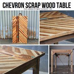 Chevron table by Ariele Alasko