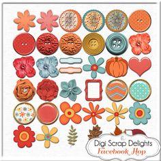 50% OFF TODAY Autumn Days Digital Scrapbook by DigiScrapDelights