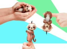 This is Kingsley the sloth. He is the newest addition to the Fingerlings crew. He is quickly becoming everyone's favourite due to his cuteness! You can get one at retrobonus.com  #Fingerlings #Sloth #Toys #MomLife #Christmas #Cute #Fun #Awesome