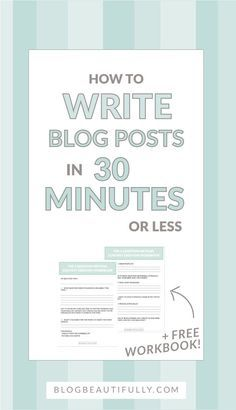 Think you can't write a blog post in less than 30 minutes? Think again! Write speedy blog posts with my secret 5 Question Method!