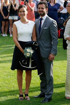 Princess Sofia and Prince Carl Philip of Sweden attend a concert to celebrate the 38th birthday of Crown Princess Victoria of Sweden at Borgholmon July 14, 2015 in Oland, Sweden.