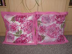 set polštářů růžové