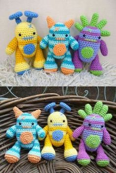 Cute crocheted monsters