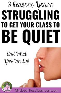 My class won't stop talking. How can I get them to be quiet?