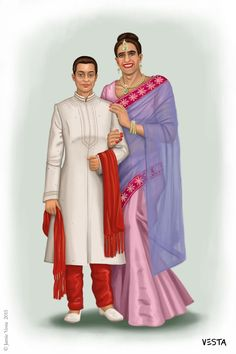 Indian Wedding by Eves-Rib on DeviantArt Transgender Comic, Transgender Couple, Transgender Model, Genderbent Cosplay, Indiana, Female Led Marriage, Indian Crossdresser, Female Supremacy, Perfect Relationship