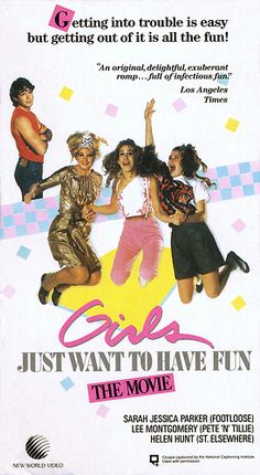 Girls Just Want To Have Fun – VHS Front Cover I loved this movie so much. Another early Sarah Jessica Parker and Helen Hunt movie… Girls Just Wanna Have Fun Sarah Jessica, Jessica Parker, Robert Downey, Downey Jr, 80s Movies, Great Movies, Good Girl, See Movie, Movie Tv