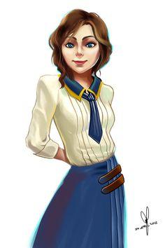 Bioshock Tattoo, Bioshock 1, Bioshock Series, Columbia Bioshock, Bioshock Infinite Elizabeth, Elizabeth Comstock, Layers Of Fear, Sr1, Elisabeth