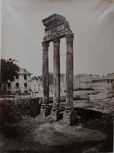 1860/65 Fratelli D Alessandri  Tempio dei Dioscuri