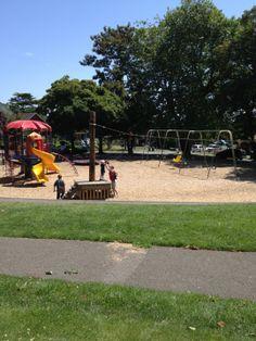 Salmon Bay Park in Seattle, WA Swings, zip line, friendly neighbors